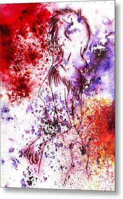 Sweet Death Kiss Metal Print by Rokon Chan