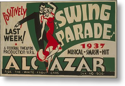 Metal Print featuring the mixed media Swing Parade Of 1937 by American Classic Art