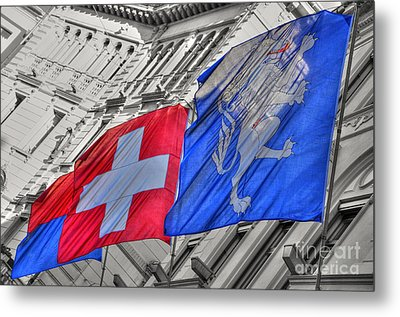 Swiss Flags  Metal Print by Mats Silvan