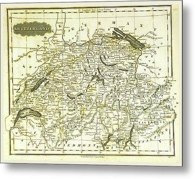 Switzerland, 19th Century Engraving Metal Print by Litz Collection
