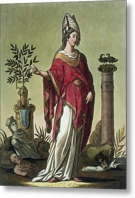 Sybil Of Eritrea With Her Insignia, 1796 Metal Print by Jacques Grasset de Saint-Sauveur