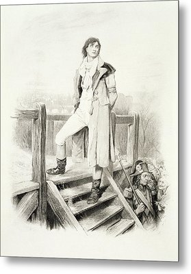 Sydney Carton, From Charles Dickens A Metal Print by Hablot Knight Browne