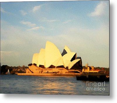 Sydney Opera House Painting Metal Print by Pixel Chimp