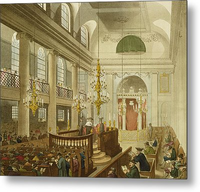 Synagogue At Dukes Place In Houndsditch Metal Print