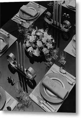 Table Setting Metal Print by Eugene Hutchinson