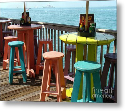 Tables With A View Metal Print by Eva Kato