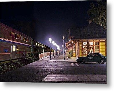 Take A Ride On Amtrak Metal Print