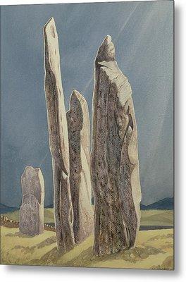 Tall Stones Of Callanish Isle Of Lewis Metal Print by Evangeline Dickson