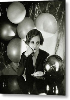 Tallulah Bankhead Surrounded By Balloons Metal Print by Cecil Beaton