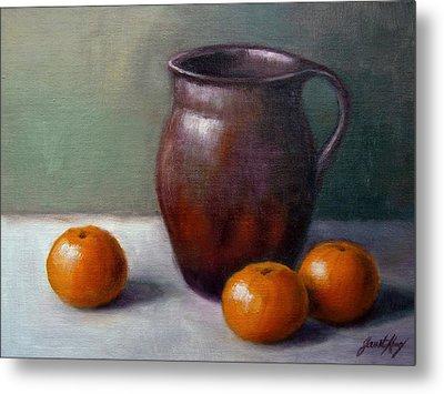 Tangerines Metal Print by Janet King