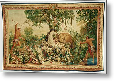 Tapestry Le Cheval Rayé From Les Anciennes Indes Series Metal Print by Litz Collection