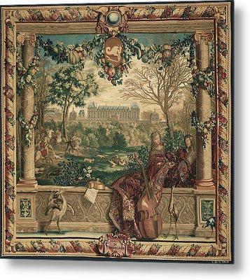 Tapestry Le Mois De Décembre, Le Château De Monceaux Metal Print by Litz Collection