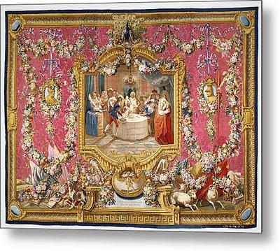 Tapestry Le Repas De Sancho Dans Lile De Barataria Metal Print by Litz Collection