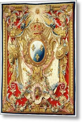Tapestry Portière Aux Armes De France Woven Metal Print by Litz Collection
