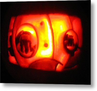 Metal Print featuring the sculpture Tarboy Pumpkin by Shawn Dall