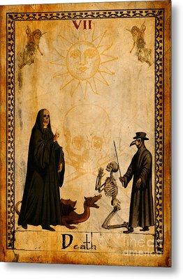 Tarot Card Death Metal Print by Cinema Photography