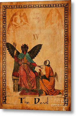Tarot Card The Devil Metal Print by Cinema Photography