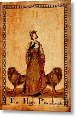 Tarot Card The High Priestess Metal Print by Cinema Photography