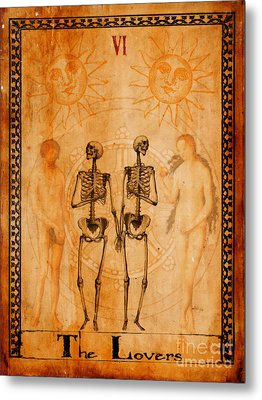 Tarot Card The Lovers Metal Print by Cinema Photography