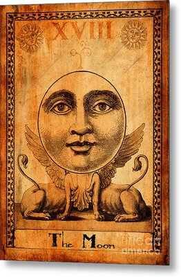 Tarot Card The Moon Metal Print by Cinema Photography
