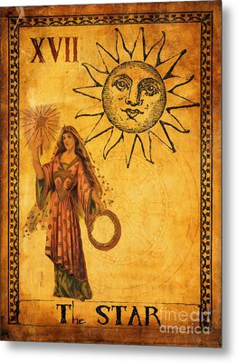 Tarot Card The Star Metal Print by Cinema Photography