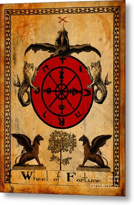 Tarot Card Wheel Of Fortune Metal Print by Cinema Photography