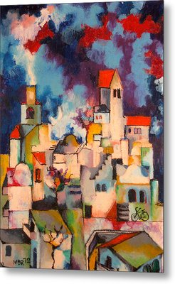 Templars' Colony Jerusalem Metal Print by Moshe BenReuven
