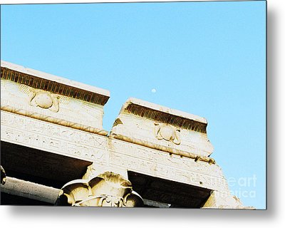 Metal Print featuring the photograph Temple At Luxor by Cassandra Buckley