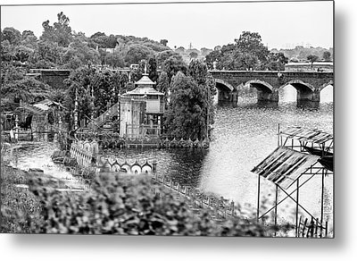 Temple By The River Metal Print by John Hoey