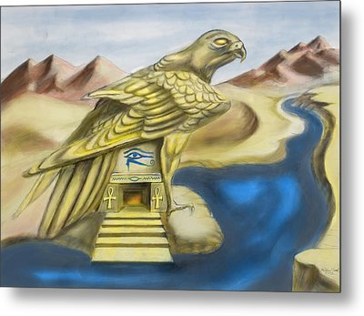 Temple Of Horus One Of Three Metal Print by Michael Cook