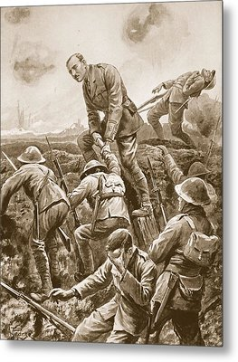 Temporary Major S.w. Loudoun-shand Metal Print by Alfred Pearse
