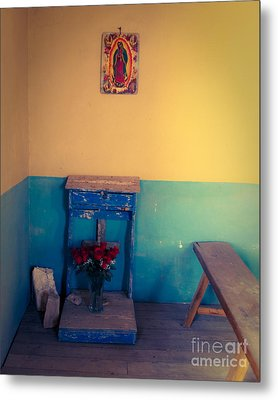 Terlingua Church Offering Metal Print by Sonja Quintero