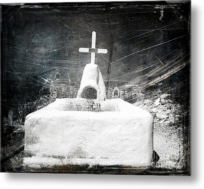 Terlingua Graves Metal Print by Sonja Quintero