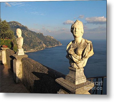 Terrace Of Infinity In Ravello On Amalfi Coast Metal Print by Kiril Stanchev
