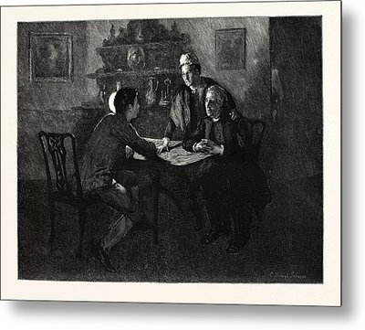 Tess Of The Durbervilles Is She Of A Family Such Metal Print by English School