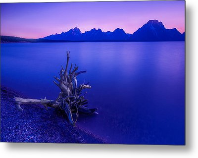 Teton Summer Sunset Metal Print by Jerry Patterson