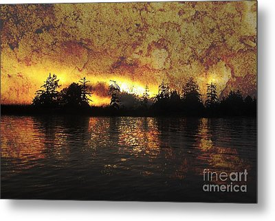 Textured Sunrise Metal Print by Erica Hanel
