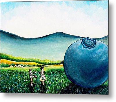 That's Gonna Make A Lot Of Pies Metal Print by Shana Rowe Jackson