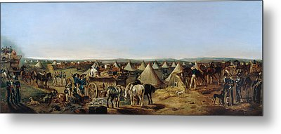 The 10th Regiment Of Dragoons Arriving Metal Print by A.E. Eglington