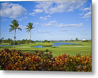 The 18th Green At Ocean Club Golf Course Metal Print