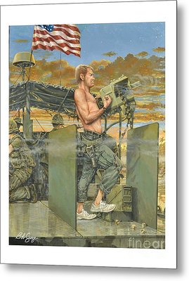 The 458th Transortation Co. In Vietnam. Metal Print by Bob  George