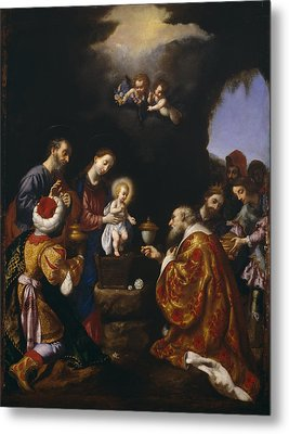 The Adoration Of The Magi Metal Print by Carlo Dolci
