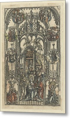 The Adoration Of The Magi, Monogrammist S 16e Eeuw Metal Print