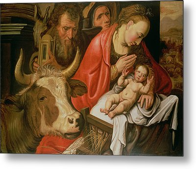 The Adoration Of The Shepherds Metal Print by Pieter Aertsen
