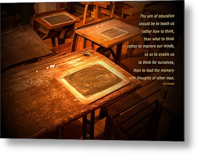The Aim Of Education Metal Print