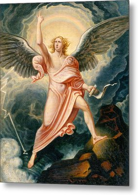 The Angel Proclaiming The End Of Time Metal Print by James Justus Tucker