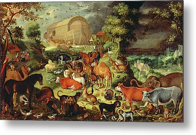 The Animals Entering The Ark Metal Print
