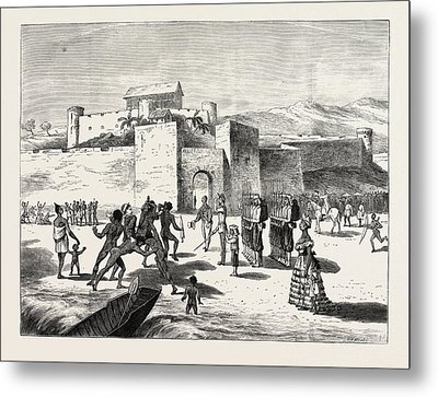 The Ashantee War, Arrival Of The Governor At Cape Coast Metal Print by African School