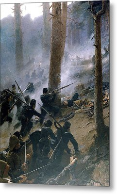 The Attack On The Peiwar Kotal Metal Print by Vereker Monteith Hamilton