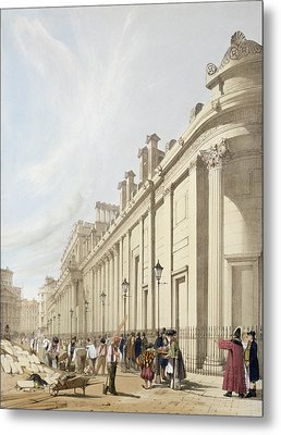 The Bank Of England Looking Towards Metal Print by Thomas Shotter Boys